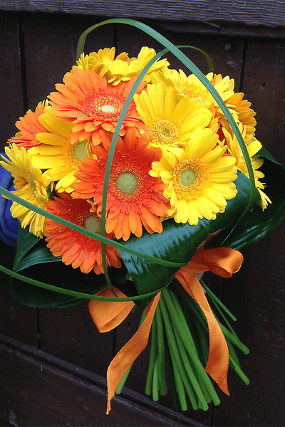 Orange and yellow floral bouquet